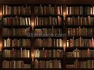 Bookcase and Candles wall mural thumbnail