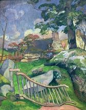 The Wooden Gate or, The Pig Keeper, 1889 (oil on canvas) wall mural thumbnail