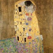 The Kiss, 1907-08 (oil on canvas) wall mural thumbnail