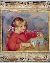 Claude Renoir at play, c.1905 (oil on canvas) wallpaper mural thumbnail