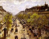 Boulevard Montmartre, Spring, 1897 (oil on canvas) mural wallpaper thumbnail