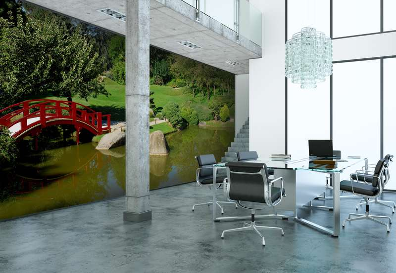 Garden wall mural from Wallsauce