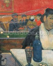 Cafe at Arles, 1888 (oil on canvas) mural wallpaper thumbnail