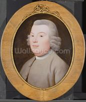 Mr. Hospey Walker, 1783 (enamel colours on Wedgwood plaque) mural wallpaper thumbnail