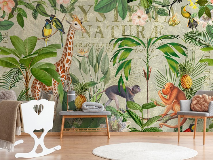 jungle themed nursery mural by Andrea Haase