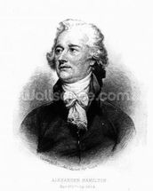 Alexander Hamilton, engraved by Albert Rosenthal, 1888 (engraving) wallpaper mural thumbnail