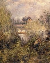 The Seine at Argenteuil, 1873 mural wallpaper thumbnail