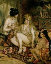 Interior of a Harem in Montmartre, Parisian women dressed as Algerians, 1872 (oil on canvas) mural wallpaper thumbnail
