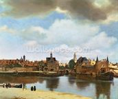 View of Delft, c.1660-61 (oil on canvas) wall mural thumbnail