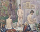 The Models, 1888 (oil on canvas) wall mural thumbnail