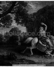 The Farmers Wife and the Raven, engraved by the artist, pub. 1788 (etching) (see also 123112) mural wallpaper thumbnail