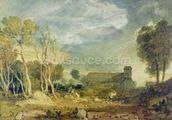 Patterdale Old Church, c.1810-15 (w/c over graphite on paper) wall mural thumbnail