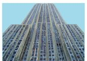 Empire State on Sky Blue mural wallpaper thumbnail