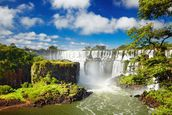 Iguassu Falls from Argentinian side mural wallpaper thumbnail