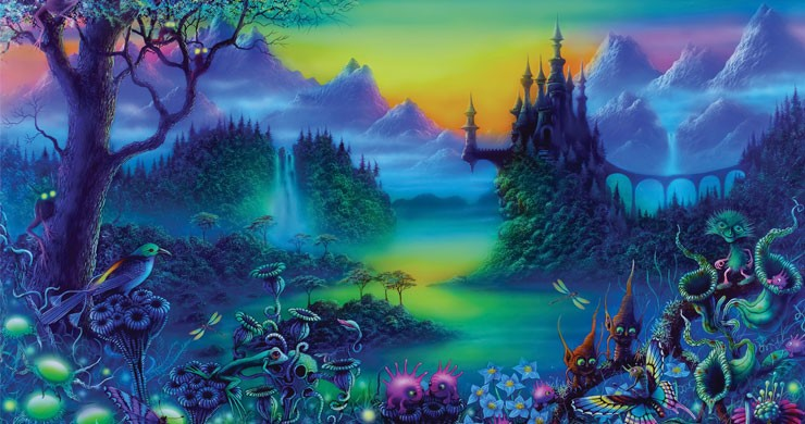 fantasy wallpaper with castle in forest