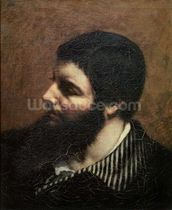 Self Portrait with Striped Collar (oil on canvas) wallpaper mural thumbnail