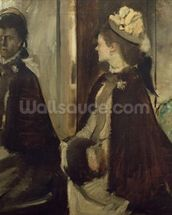 Madame Jeantaud in the mirror, c.1875 (oil on canvas) mural wallpaper thumbnail
