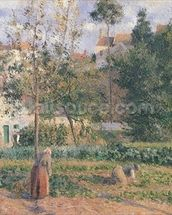 Vegetable Garden at the Hermitage, Pontoise, 1879 (oil on canvas) wall mural thumbnail