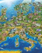 European Landmarks mural wallpaper thumbnail