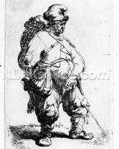 A man urinating, 1631 (eching) wallpaper mural thumbnail
