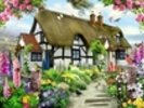 Rose cottage wall mural thumbnail