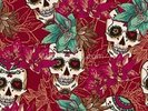 Tattoo - Skull Hearts and Flowers wall mural thumbnail