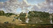 Wivenhoe Park, Essex, 1816 (oil on canvas) wallpaper mural thumbnail