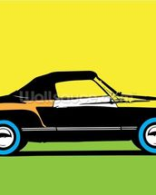 Pop Art - Car mural wallpaper thumbnail