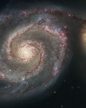 Out of This Whirl: the Whirlpool Galaxy (M51) and Companion Galaxy wall mural thumbnail