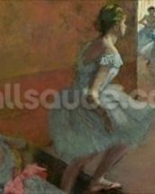 Dancers Ascending a Staircase, c.1886-88 (oil on canvas) wallpaper mural thumbnail