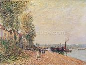Steam Boats on the Loing at Saint-Mammes, 1877 wallpaper mural thumbnail