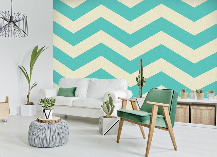 Zig-zag-striped-wallpaper