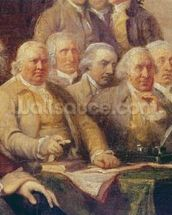 Drafting the Declaration of Independence, 28th June 1776, c.1817 (oil on canvas) (detail of 228826) wall mural thumbnail
