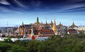 Bangkok - Grand Palace at Dusk wall mural thumbnail