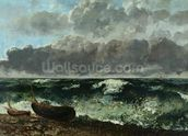 The Stormy Sea or, The Wave, 1870 (oil on canvas) wall mural thumbnail