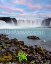 Waterfall of The Gods, Iceland wallpaper mural thumbnail
