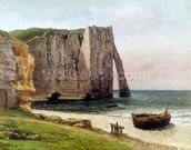 The Cliffs at Etretat, 1869 (oil on canvas) wallpaper mural thumbnail
