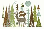 Forest Folklore Green mural wallpaper thumbnail