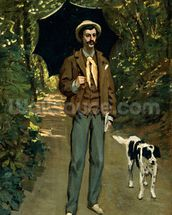 Man with an Umbrella, c.1868-69 (oil on canvas) wall mural thumbnail
