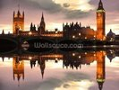 Houses of Parliament Reflection wall mural thumbnail