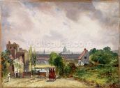 Sir Richard Steeles Cottage, Hampstead, c.1832 (oil on canvas) wall mural thumbnail
