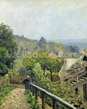 Louveciennes or, The Heights at Marly, 1873 (oil on canvas) wallpaper mural thumbnail