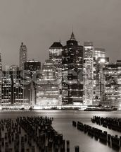 New York at Night mural wallpaper thumbnail