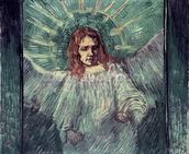 Head of an Angel, after Rembrandt, 1889 (oil on canvas) mural wallpaper thumbnail