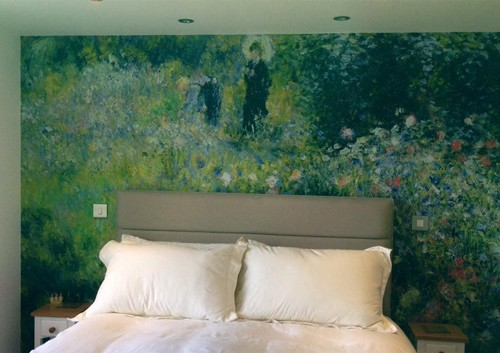 claude monet wall mural