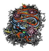 Japanese Dragon wall mural thumbnail