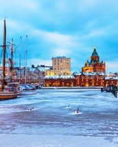 Helsinki Winter wallpaper mural thumbnail
