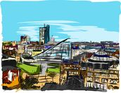 Urbis Skyline mural wallpaper thumbnail