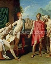 Ambassadors Sent by Agamemnon to Urge Achilles to Fight, 1801 (oil on canvas) mural wallpaper thumbnail