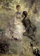 The Lovers, c.1875 (oil on canvas) mural wallpaper thumbnail